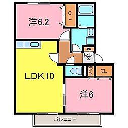 カーサMASAKI[2階]の間取り