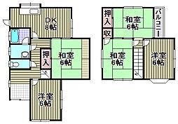 男里7丁目一戸建 1階5DKの間取り