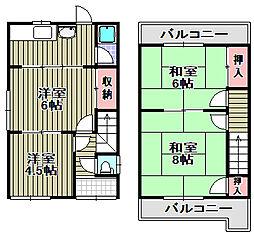 [一戸建] 大阪府和泉市富秋町3丁目 の賃貸【/】の間取り