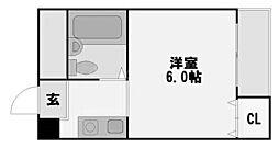 エステートプラザ塚本[6階]の間取り