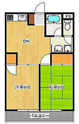 くらしまマンション2[2階]の間取り
