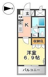 レジェンドール西の京[202号室]の間取り