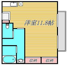 シオン成城[2階]の間取り