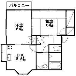 ルネス坂井[B1-2号室]の間取り