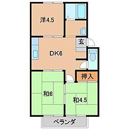 ハイツ高井[2階]の間取り