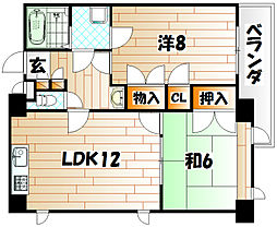 ルネックスIII[5階]の間取り