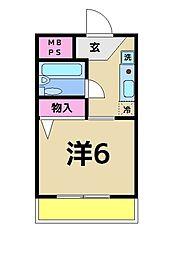 フォンテーヌ青井[3階]の間取り