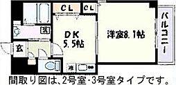 プライムコート栄生[102号室]の間取り