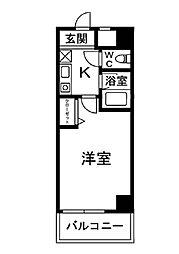 コートビュータワー[702号室]の間取り
