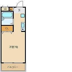 兵庫県尼崎市元浜町4丁目の賃貸マンションの間取り