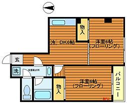 東京都武蔵野市吉祥寺本町4丁目の賃貸マンションの間取り