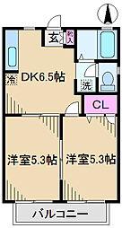 東京都足立区新田1丁目の賃貸アパートの間取り