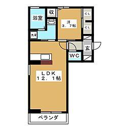 スマイル25[2階]の間取り