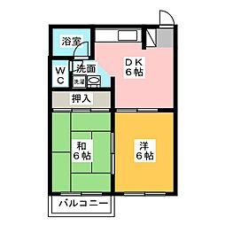 アーバンハイツI・II[1階]の間取り