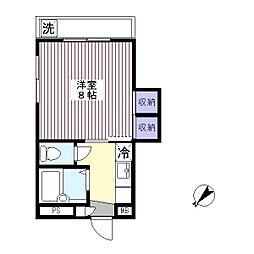 英コーポ[4階]の間取り
