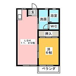 メゾニティ21A棟[1階]の間取り
