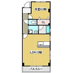 愛知県名古屋市中川区細米町1丁目の賃貸マンションの間取り