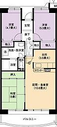 URアーバンラフレ小幡5号棟[13階]の間取り
