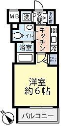 グランヴァン横濱反町 8階1Kの間取り