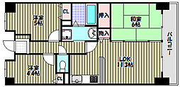 セントラルステージ光明池[11階]の間取り
