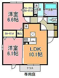 仮)D−room寄井 F[101号室]の間取り