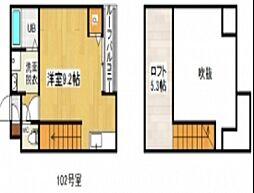 広島県広島市南区宇品御幸3丁目の賃貸アパートの間取り