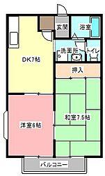 セジュールHIRO[2階]の間取り