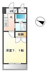 神奈川県伊勢原市桜台1の賃貸マンションの間取り