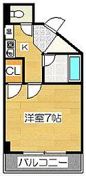 キャンパスシティ太宰府[210号室]の間取り