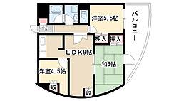 愛知県名古屋市南区桜本町の賃貸マンションの間取り