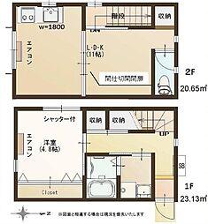 東京都品川区西大井6丁目の賃貸アパートの間取り