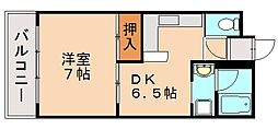 福岡県福岡市南区皿山3丁目の賃貸マンションの間取り