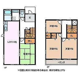 [タウンハウス] 長野県松本市筑摩2丁目 の賃貸【/】の間取り