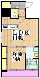 レジェンドール心斎橋EAST[14階]の間取り