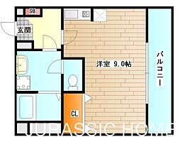 大阪府堺市堺区東湊町1丁の賃貸マンションの間取り