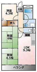 アプリーレ武庫川[2階]の間取り
