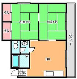 コーポホンダ[3階]の間取り