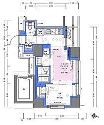 JR山手線 神田駅 徒歩4分の賃貸マンション 10階1LDKの間取り