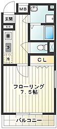 カタンクローバーIII[405号室]の間取り