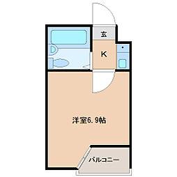 ベルシティ高松[1階]の間取り