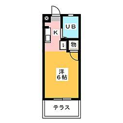 村瀬ハイツ1[1階]の間取り