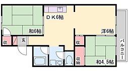 加古川バンブーハイツ[201号室]の間取り