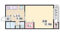 白川台マンション[3階]の間取り
