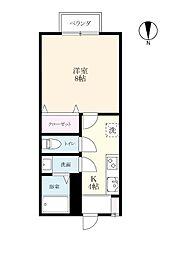 みつ弐番館[1階]の間取り