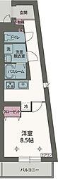 JR東海道本線 静岡駅 徒歩10分の賃貸マンション 4階1Kの間取り