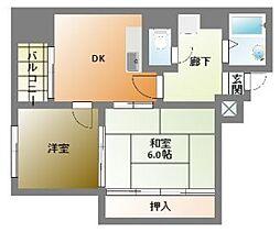 南堀江SKビル[4階]の間取り