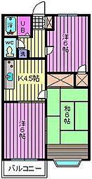 メゾンレックス[201号室]の間取り