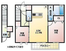 セピアコート八尾北本町[2階]の間取り