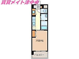 三重県津市桜橋3丁目の賃貸マンションの間取り