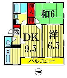 亀戸ハウス[101号室]の間取り
